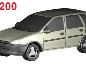 Opel Corsa (1:200) in Frosted Ultra Detail