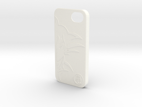 Dragon Ball Z - GOKU Case for iPhone 5 in White Strong & Flexible Polished