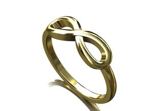 Infiniti Ring  in Polished Bronze Steel