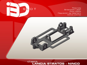 Chasis para Lancia Stratos NINCO in White Strong & Flexible