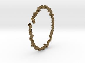 Bracelet of Cubes No.2 in Polished Bronze