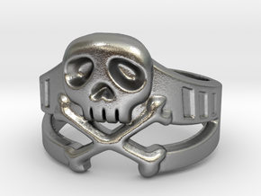 Space Captain Harlock | Ring Size 8 in Natural Silver: 8 / 56.75