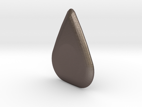 Ergonomic Guitar Pick in Polished Bronzed Silver Steel