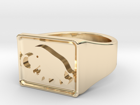Mammoth Ring 2 in 14k Gold Plated Brass