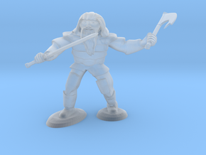 Dwarf Two Weapon Fighter in Smooth Fine Detail Plastic
