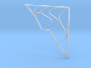 Architectural Screen - Town and Waves in Smooth Fine Detail Plastic