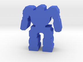 Game Piece, Heavy Mech in Blue Processed Versatile Plastic