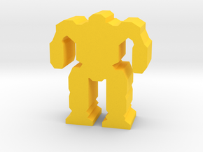 Game Piece, Medium Mech in Yellow Processed Versatile Plastic
