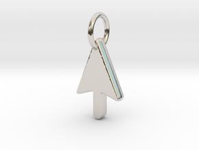 Mouse Cursor Pendant in Platinum