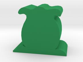 Alien Egg Meeple in Green Processed Versatile Plastic