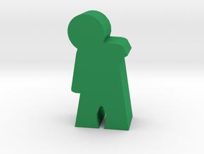 Game Piece, Zombie-Mummy Walker in Green Processed Versatile Plastic