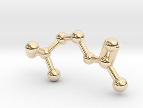 Acetylcholine Molecule in 14K Yellow Gold