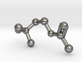Acetylcholine Molecule in Fine Detail Polished Silver