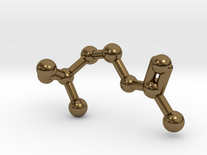 Acetylcholine Molecule in Polished Bronze