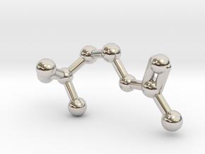 Acetylcholine Molecule in Rhodium Plated Brass