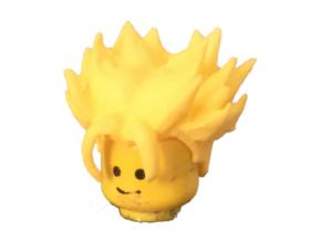 Custom Trunks Short SSj Inspired Lego in Yellow Strong & Flexible Polished