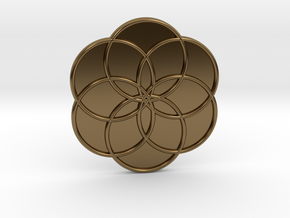 Flower of Life in Polished Bronze