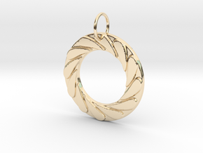 Water Well Pendant in 14k Gold Plated Brass