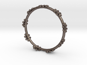 Bangle Design in Polished Bronzed Silver Steel