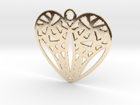 Cuore in 14k Gold Plated Brass