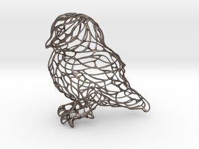 Owl Thin Wire 8cm in Stainless Steel