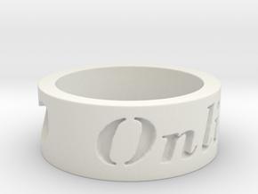 Love OnLine Ring Size 7 in White Natural Versatile Plastic