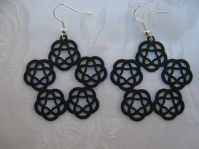 Large Five Pattern Earrings in Black Strong & Flexible