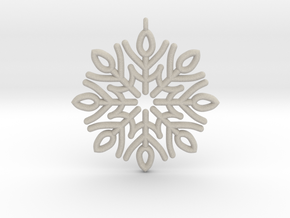 Classic Snowflake in Natural Sandstone