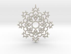 Fancy Snowflake in Natural Sandstone