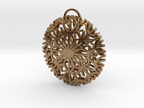 Dandelion seeds pendant(32mm) in Natural Brass