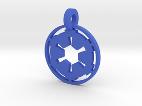 3d Star Wars Empire Pendant in Blue Processed Versatile Plastic