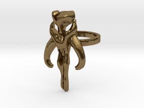 3d Star Wars Mandalorian, Size 6 in Polished Bronze