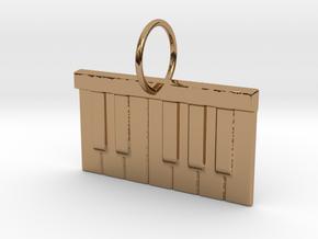 Piano Keys in Polished Brass