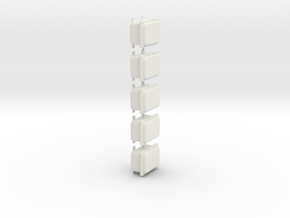 1/18 scale Explosion proof cabinet in White Natural Versatile Plastic