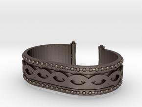 Scroll Bracelet in Polished Bronzed Silver Steel