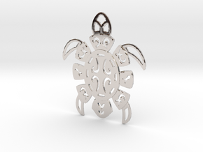 Pacific Turtle in Rhodium Plated Brass
