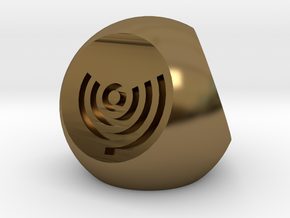 Arc Axis D4 Round Die in Polished Bronze