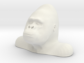 Gorilla Bust Sculpt in White Strong & Flexible