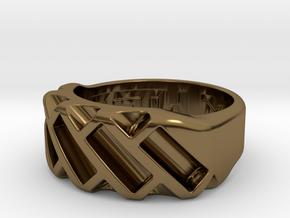 US6 Ring XVII: Tritium in Polished Bronze