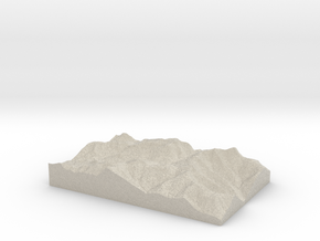 Model of Rocky Mountain in Sandstone