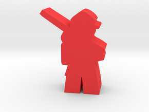 Game Piece, Civil War Soldier, marching, rifle in Red Processed Versatile Plastic