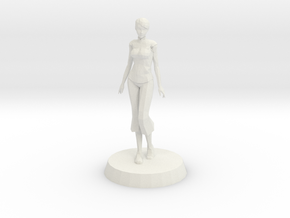 Girl - Standing in White Natural Versatile Plastic