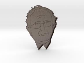 Bernie Sanders Cookie Cutter in Polished Bronzed Silver Steel