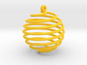 Orecchino Palla Piccolo in Yellow Strong & Flexible Polished
