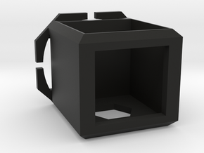 Cubed Camera Head-mount Case in Black Natural Versatile Plastic