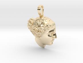 Venus de Milo pendant in 14k Gold Plated Brass