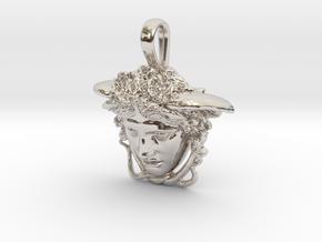 Medusa Rondanini, mini pendant in Platinum