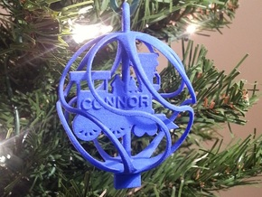 Train Ornament - Custom in Blue Processed Versatile Plastic