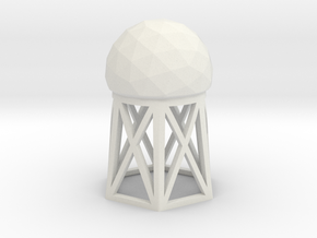 Radar Dome / Tower in White Natural Versatile Plastic