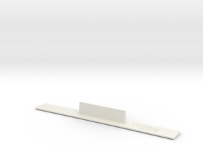 ME83-210R Curve Template HO Scale in White Natural Versatile Plastic